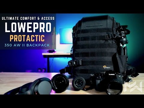 BEST in COMFORT & DESIGN - LowePro Protactic BP 350 AW II Comprehensive 2018 Review