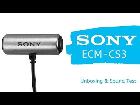 Sony ECM-CS3 Stereo Lavalier Microphone (UNDER $25!!!) - Unboxing and Sound Test