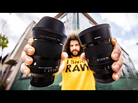 DON'T BUY THE SONY?! SIGMA 35 1.4 DN ART Review (vs SONY 35 1.4 GM)