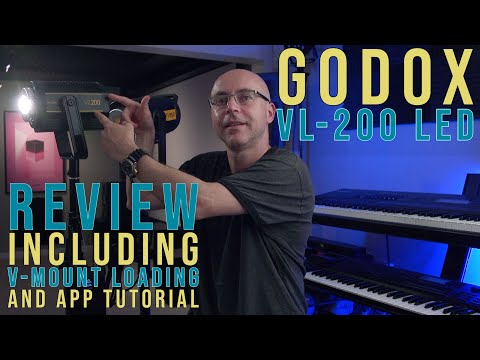 Godox VL 200 Review + V-Mount Option and APP Tutorial!
