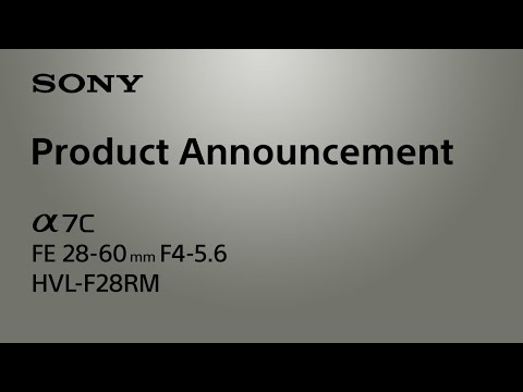 Product Announcement Alpha 7C | Sony | α [Subtitle available in 20 languages]