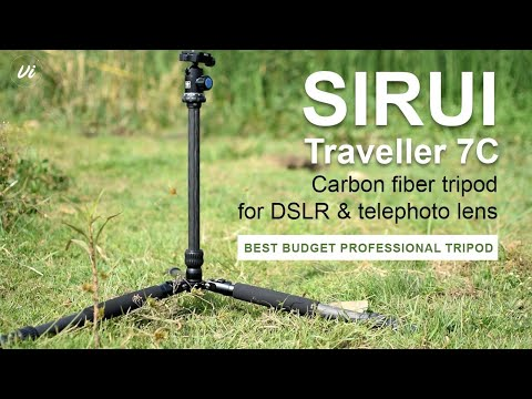 Best budget carbon fiber tripod in 2020 | Sirui traveller 7c | Unboxing and review