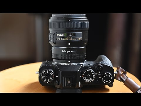 Nikon F lens on Fujifilm X camera with all functions! Fringer NF-FX adapter engineering sample demo