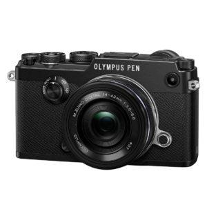 Olympus Pen-F runko musta + 14-42mm EZ musta
