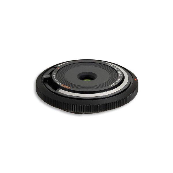 Olympus Body cap lens 15mm f/8 musta