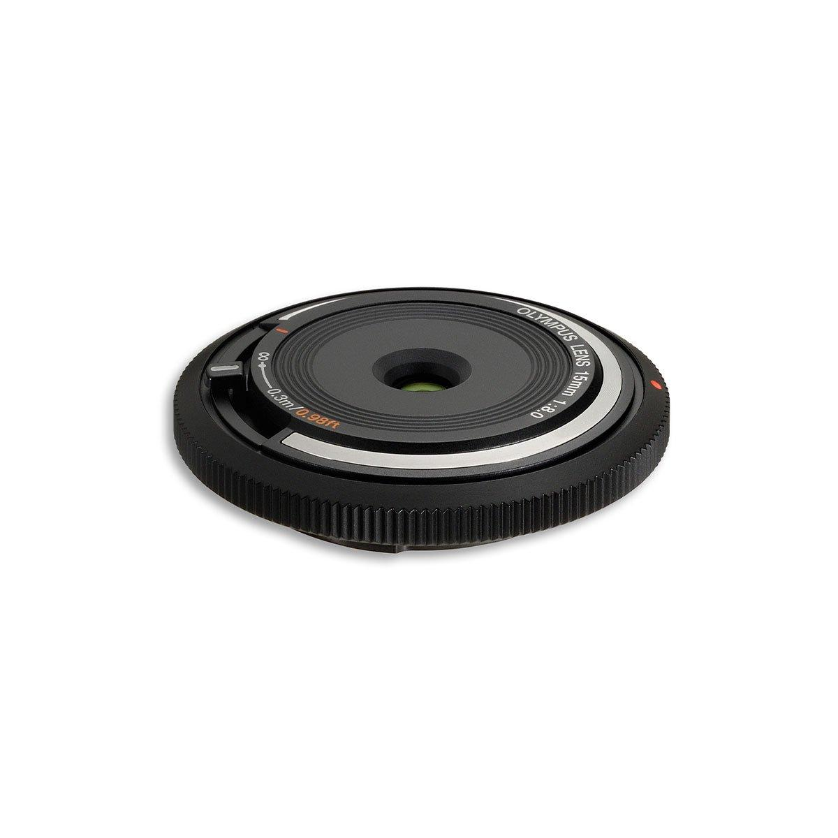 Olympus Body cap lens 15mm F8.0 musta