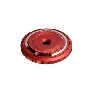 Olympus Body cap lens 15mm F8.0 punainen