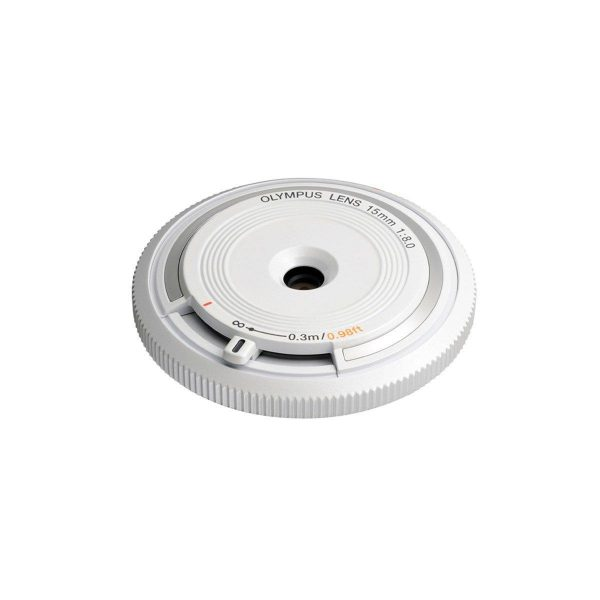 Olympus Body cap lens 15mm f/8 valkoinen