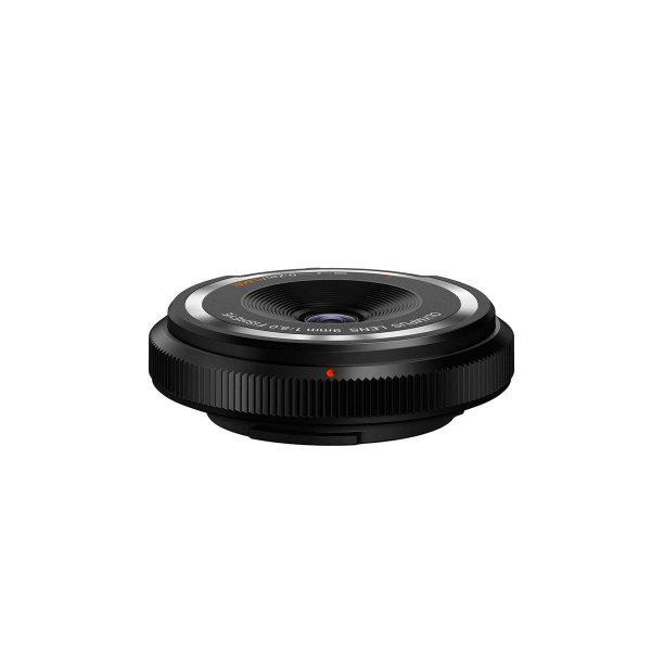Olympus Body cap lens 9mm f/8 fisheye musta
