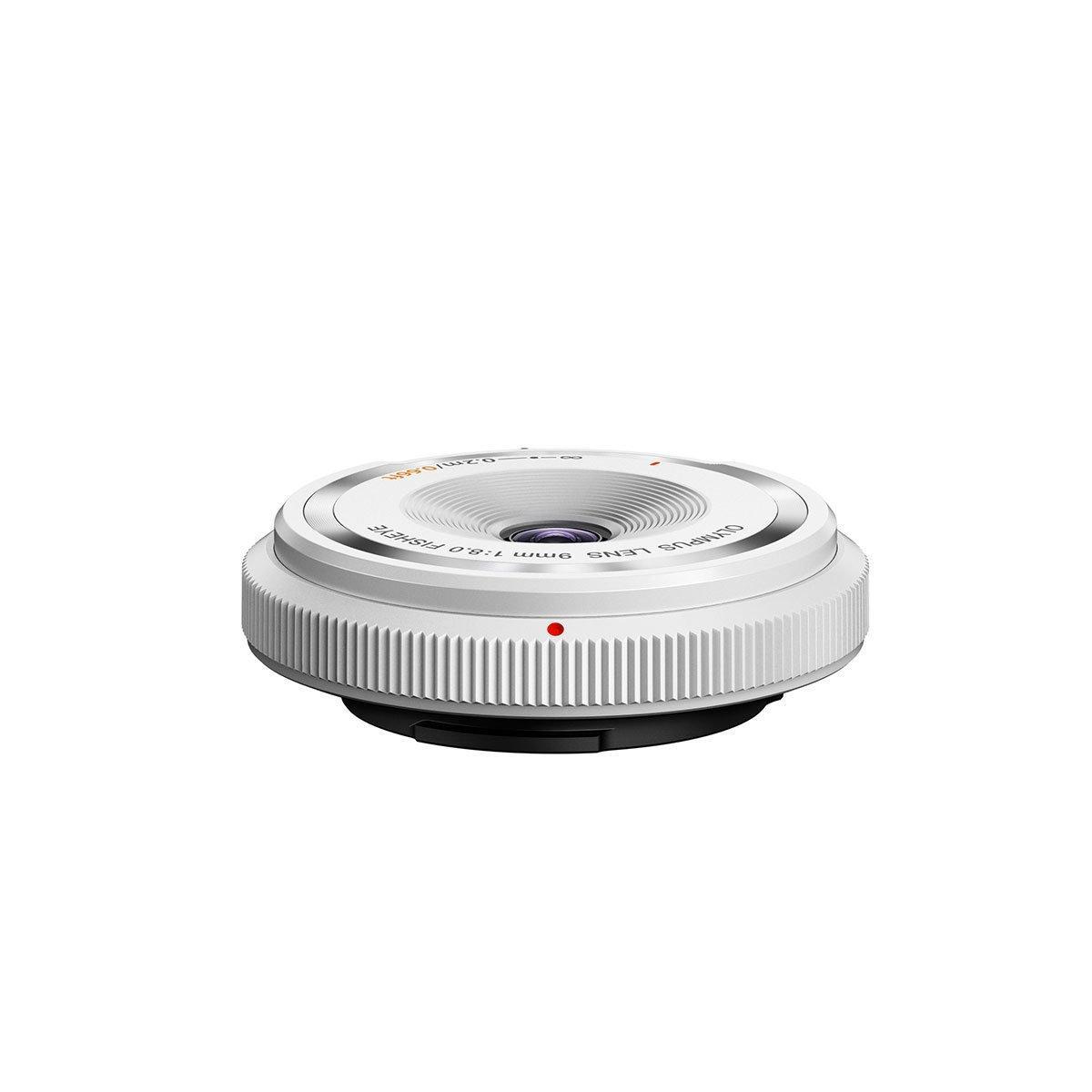 Olympus Body cap lens 9mm f/8 fisheye valkoinen