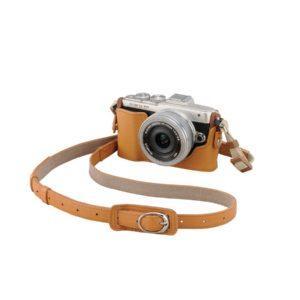 Olympus CS-45B nahkainen kamerakotelo – vaaleanruskea