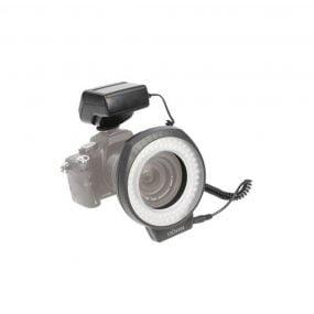 Dörr LED 80 rengasvalo salamalla, 450LUX, 52mm-72mm