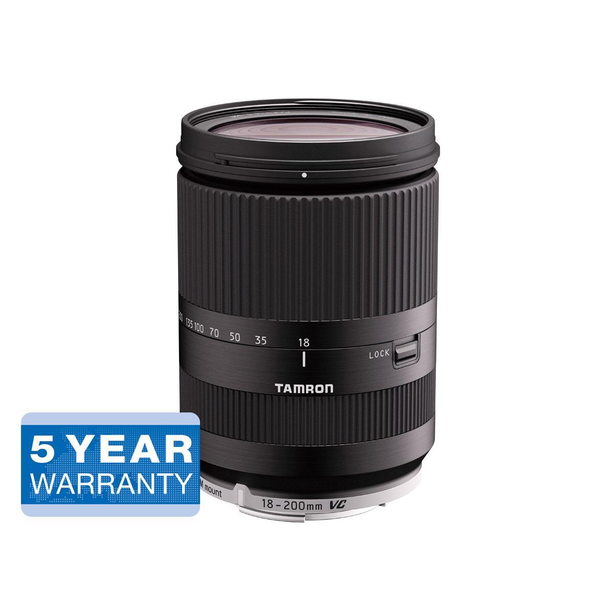 Tamron 18-200mm f/3.5-6.3 Di III VC – Canon M – musta