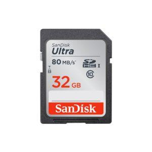 Sandisk SDHC Ultra 32GB 80MB/s UHS-I Class10