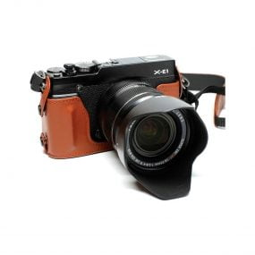 Fujifilm BLC-XE1, X-E1/X-E2 Puolikotelo – Ruskea
