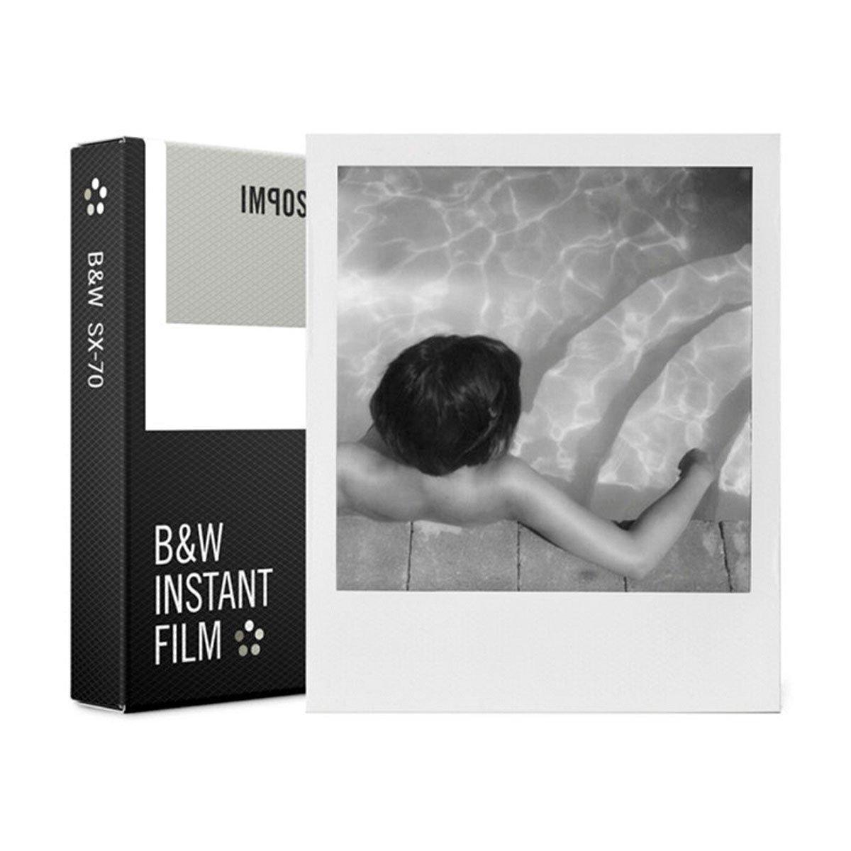 Impossible Polaroid SX-70 Mustavalkofilmi