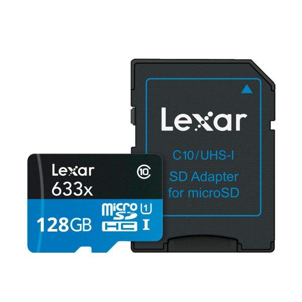 Lexar MicroSDHC / MicroSDXC 633x adapterilla 128GB