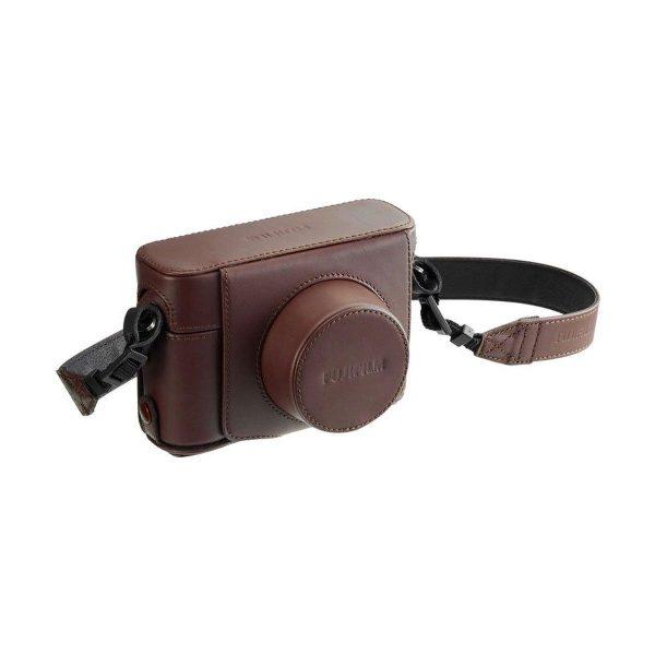 LC-X100F Premium ruskea kamerakotelo