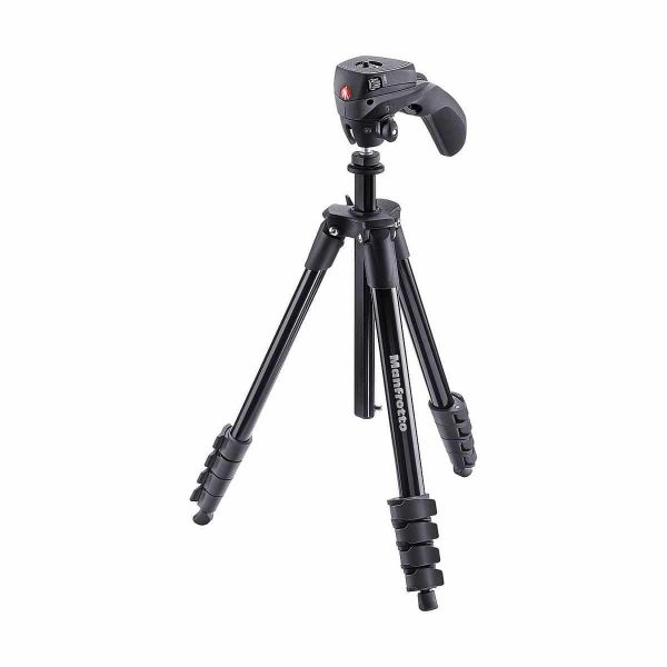 Manfrotto Jalustakitti Compact Action Musta