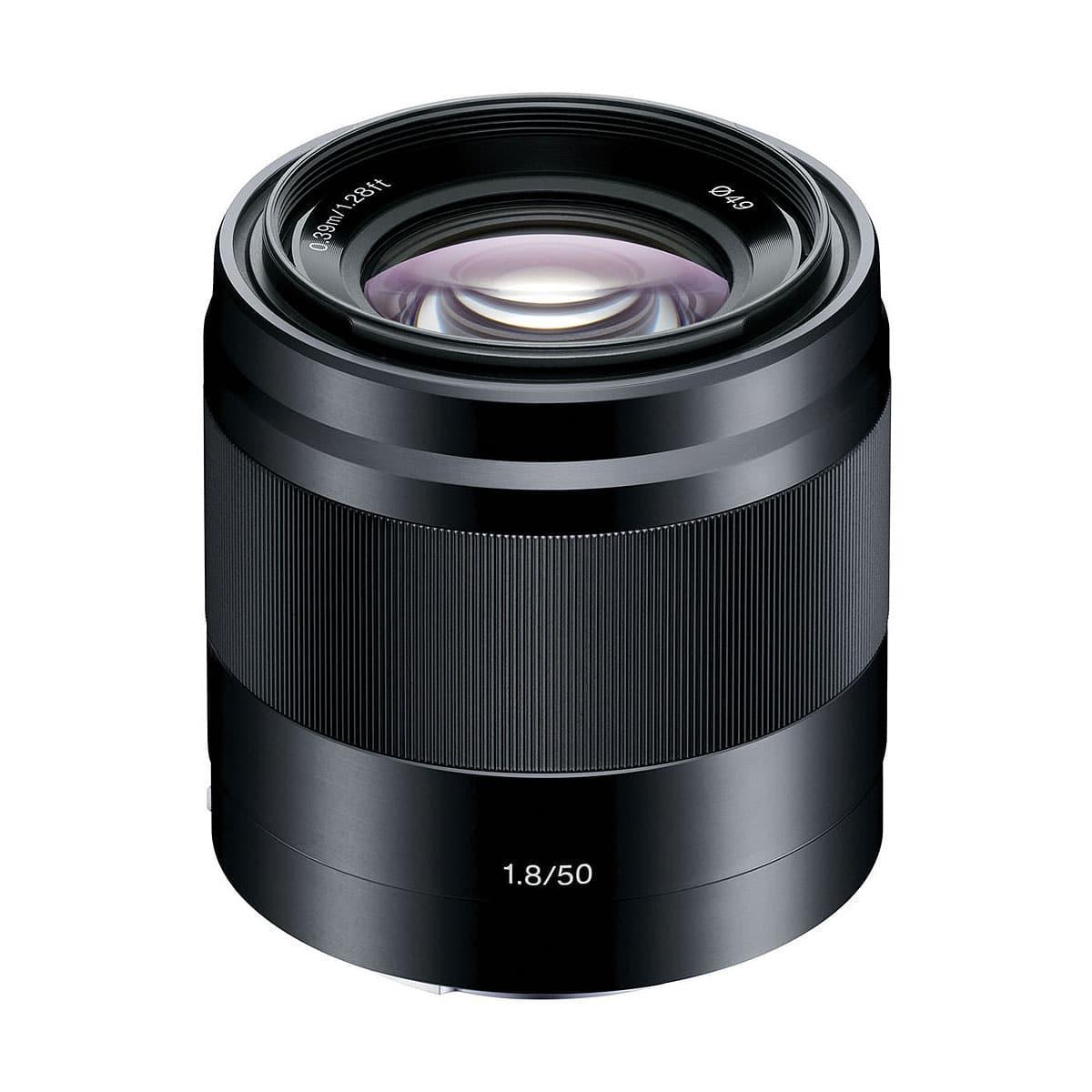 Sony E 50mm f/1.8 OSS Musta