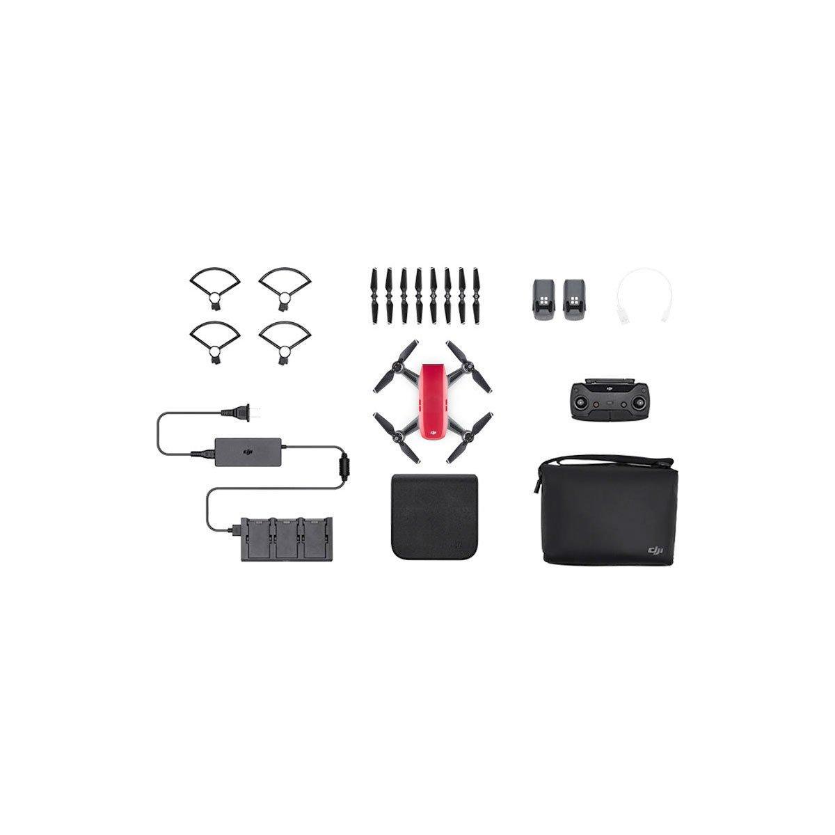 DJI Spark Lava Red Flymore combo – minikopteri