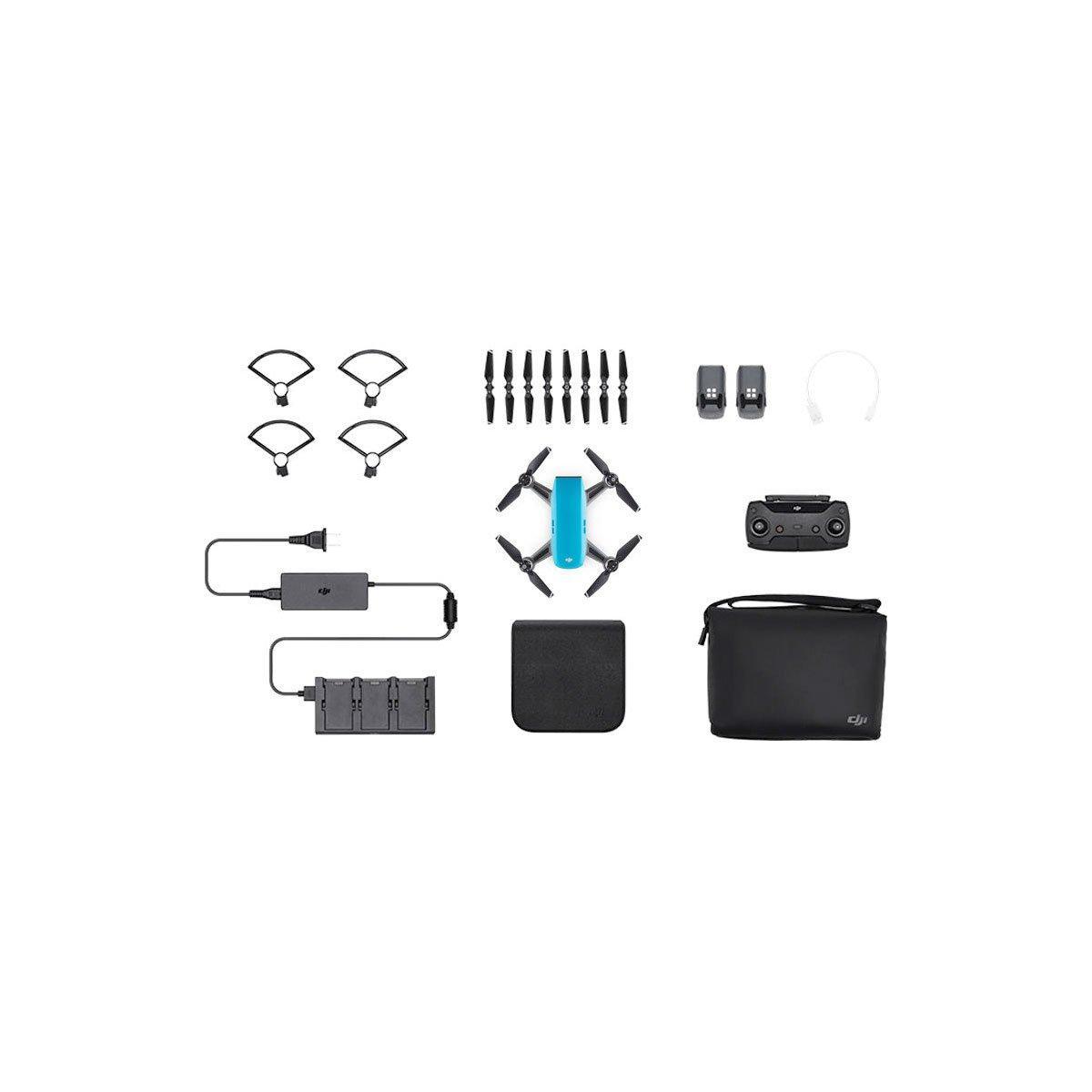 DJI Spark Sky Blue Flymore combo – minikopteri
