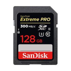 Sandisk SDXC Extreme PRO 128GB 300/260MB/s C10 UHS-II U3