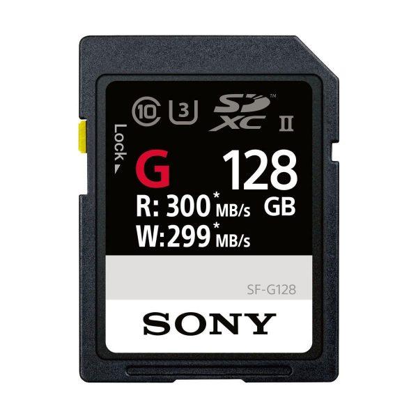 Sony 128GB SF-G Series UHS-II SDXC Muistikortti + UHS-II MRW-S1 kortinlukija