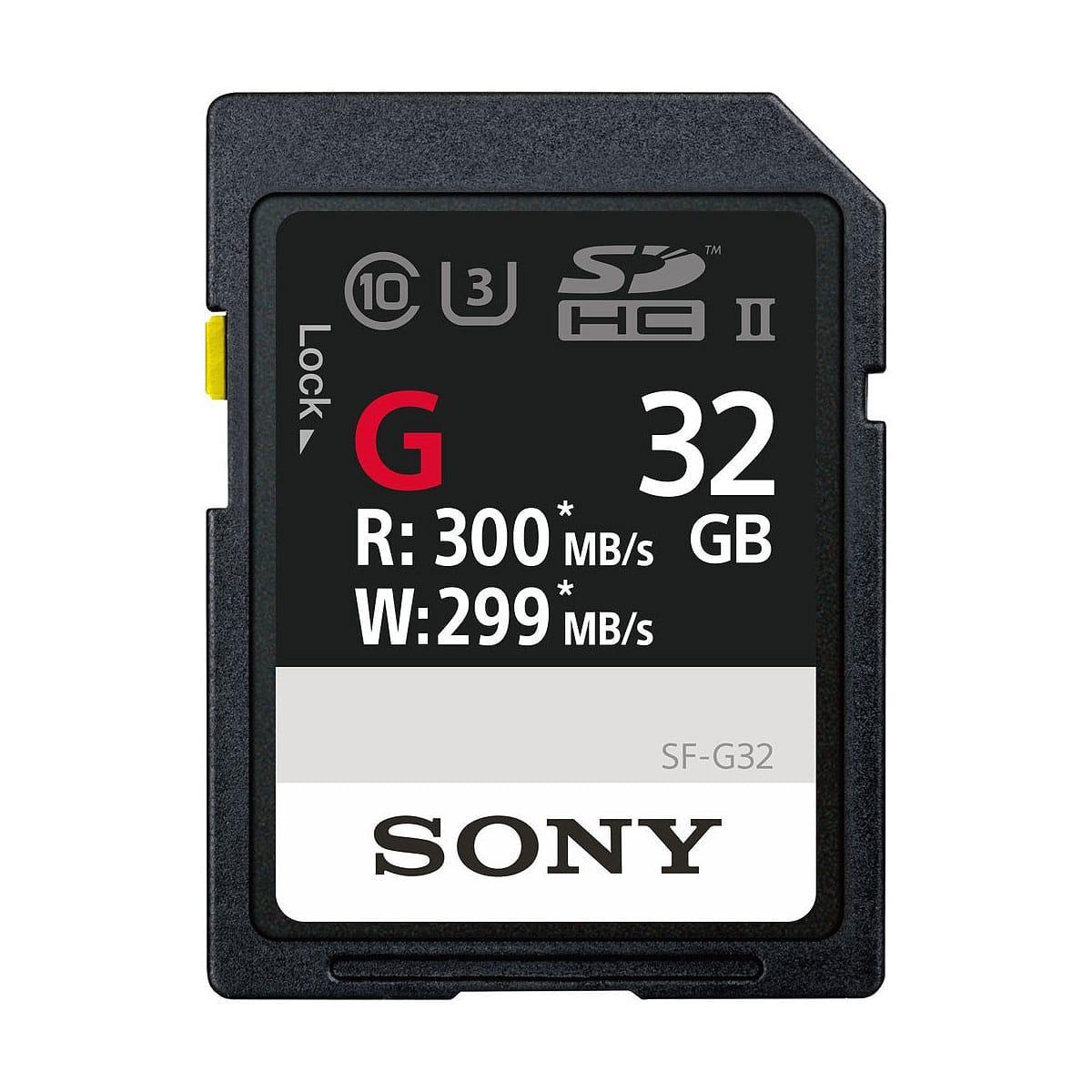 Sony 32GB tuplakitti SF-G Series UHS-II SDXC Muistikortti + UHS-II MRW-S1 kortinlukija