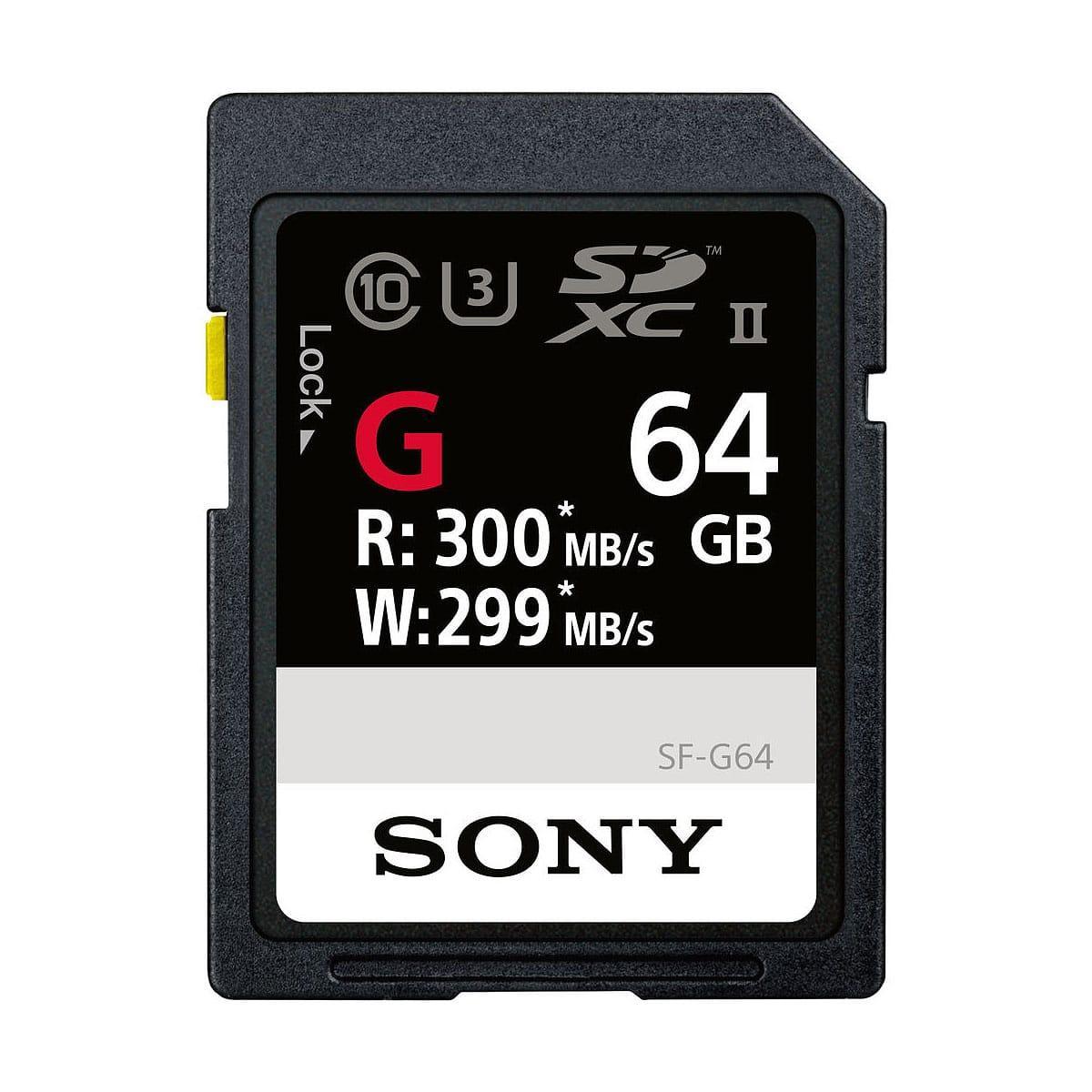 Sony 64GB SF-G Series UHS-II SDXC Muistikortti + UHS-II MRW-S1 kortinlukija