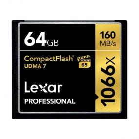 Lexar 64GB 160MB/s CF Professional 1066X  -muistikortti – Käytetty