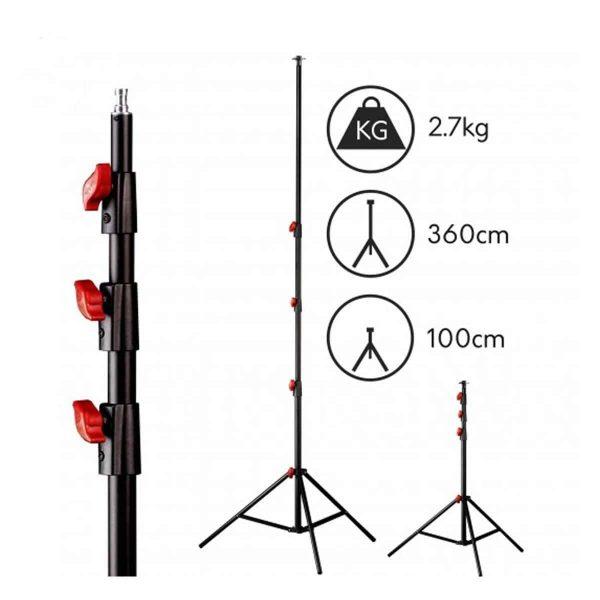 Lencarta Pneumatic Air Light Stand 265cm