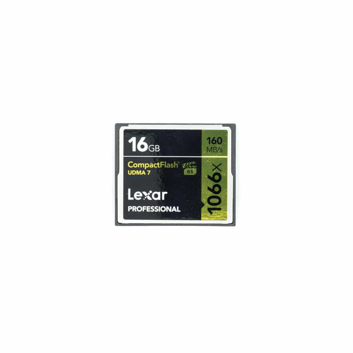 Lexar CF Professional 16GB 160MB/s 1066x – Käytetty