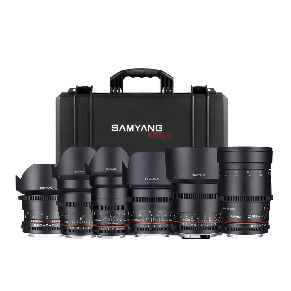 Samyang Kit VDSLR kovalla laukulla – Canon