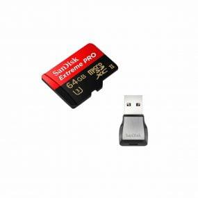 Sandisk Micro SDXC Extreme Pro 64 GB 275MB/s UHS-II U3 Class 10