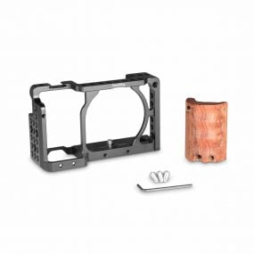 SmallRig Cage with Wooden Handgrip for Sony A6000 / A6300 / A6500 2082