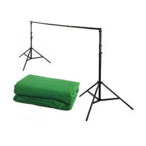 Vihreä Chromakey taustakangas kitti, 3 x 5m