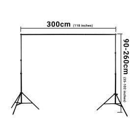 Hakutatz 2.6x3m Background Support Kit