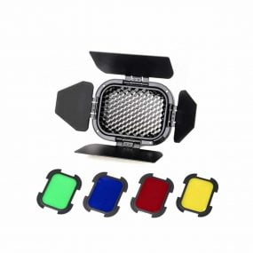 Godox Barndoor Kit with 4 Color Gels for AD200 – BD-07