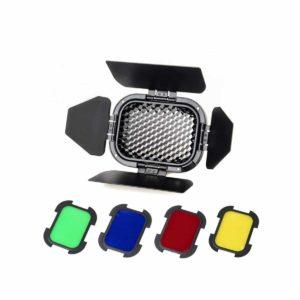 Godox Barndoor Kit with 4 Color Gels for AD200 - BD-07