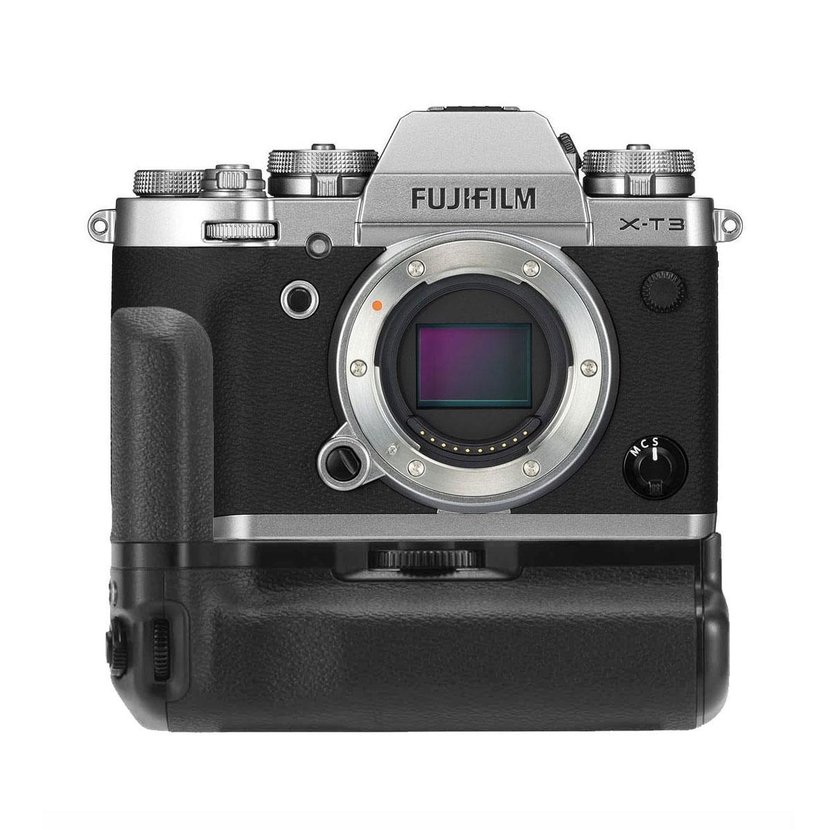 Fujifilm X-T3 Peilitön Järjestelmäkamerarunko + VG-XT3 akkukahva – Hopea
