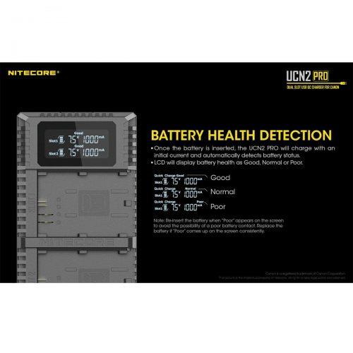 Nitecore UNC2 Pro Canon LP-E6 / LP-E6N tuplalaturi