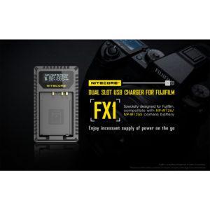 Nitecore FX1 Fujifilm NP-W126 / NP-W126S tuplalaturi
