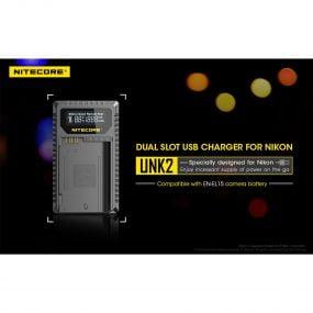 Nitecore UNK2 Nikon EN-EL15 tuplalaturi