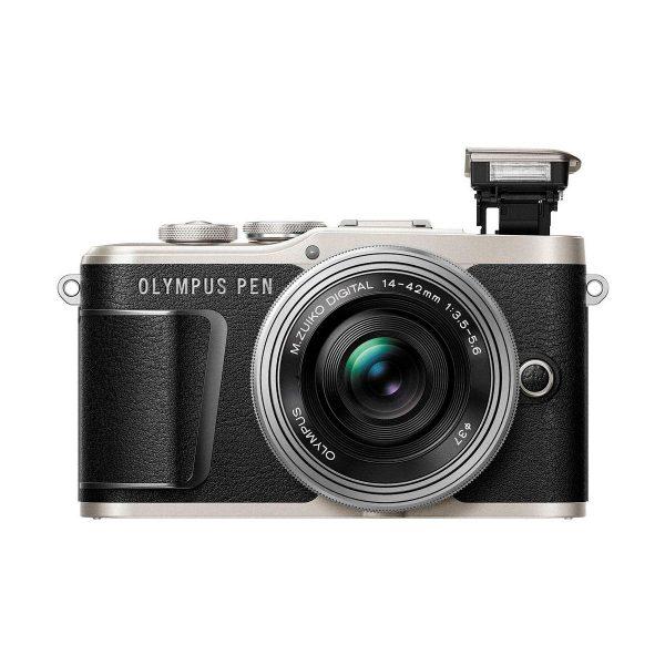 Olympus PEN E-PL9 Musta-Hopea + m.Zuiko 14-42mm f/3.5-5.6 EZ ED