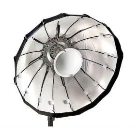 Lencarta Folding Beauty Dish 60cm Hopeinen – Elinchrom