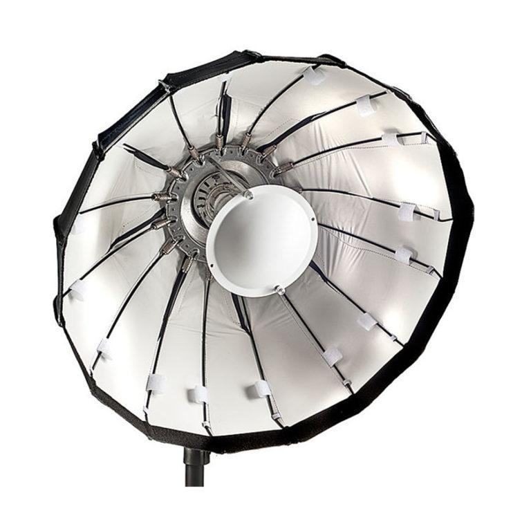 Lencarta Folding Beauty Dish 60cm Hopeinen - Elinchrom