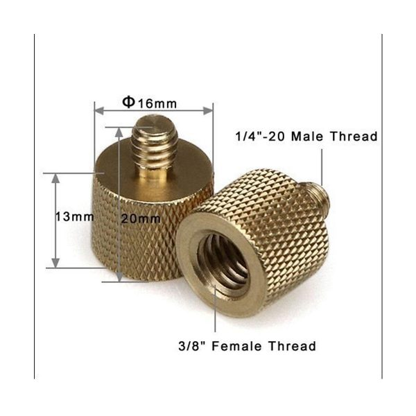 SmallRig Thread Adapter with female 3/8″ to male 1/4″ thread 1027