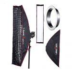 Lencarta Pro Profold Folding Strip Softbox 200x27cm Hunajakennolla – Bowens