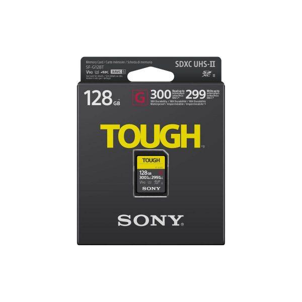 SONY Pro Tough SD 128GB 18x stronger UHS-II R300 W299 V90